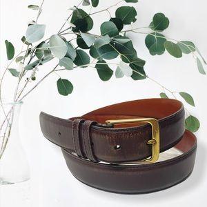 "Coach J1 5800 brown leather belt 38"" 95cm"